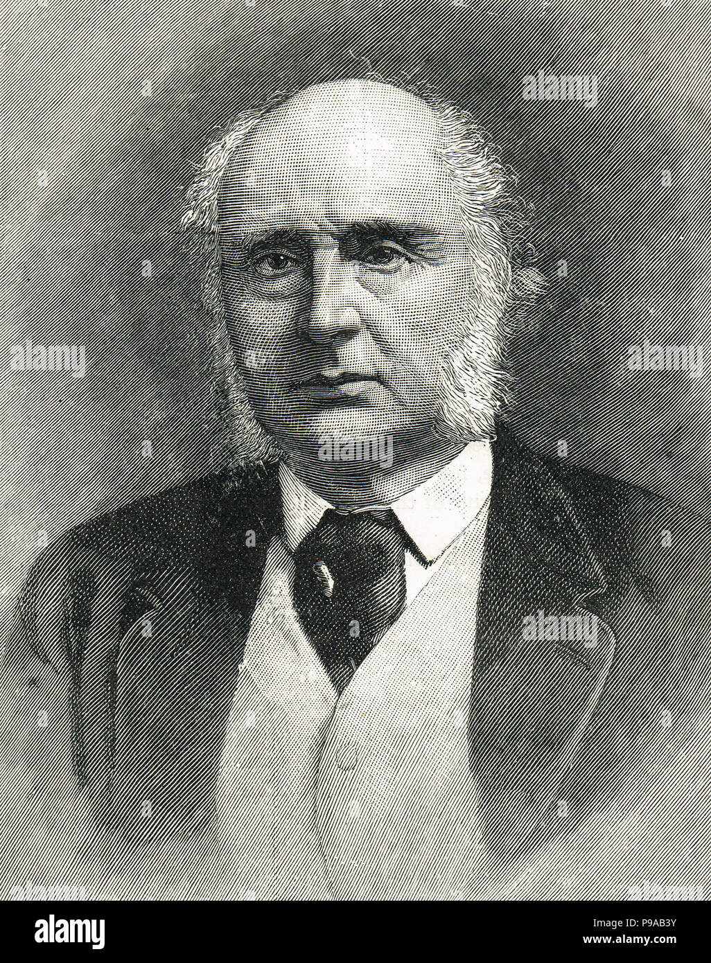 James Wilde, 1st Baron Penzance.  A noted British judge who presided over a number of notorious trials - Stock Image
