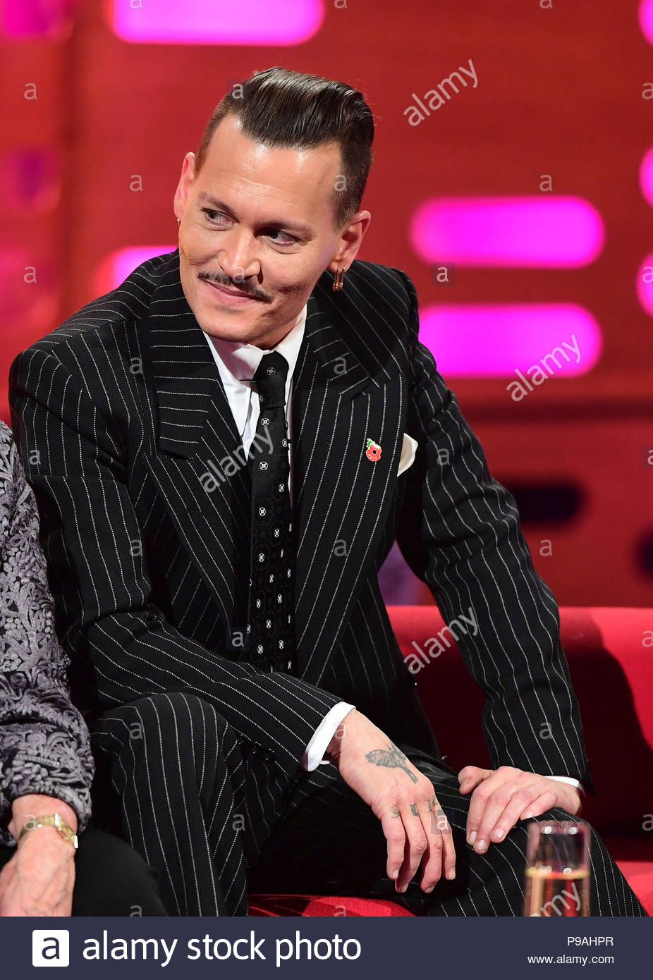 File photo dated 1/11/2017 of Johnny Depp who has settled a lawsuit with his former managers a month before they were due in court. - Stock Image