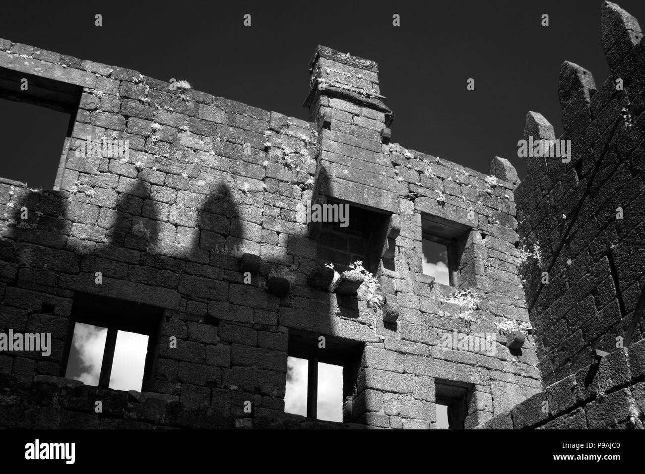 Interior of a 10th century castle. Guimaraes, north of Portugal. - Stock Image