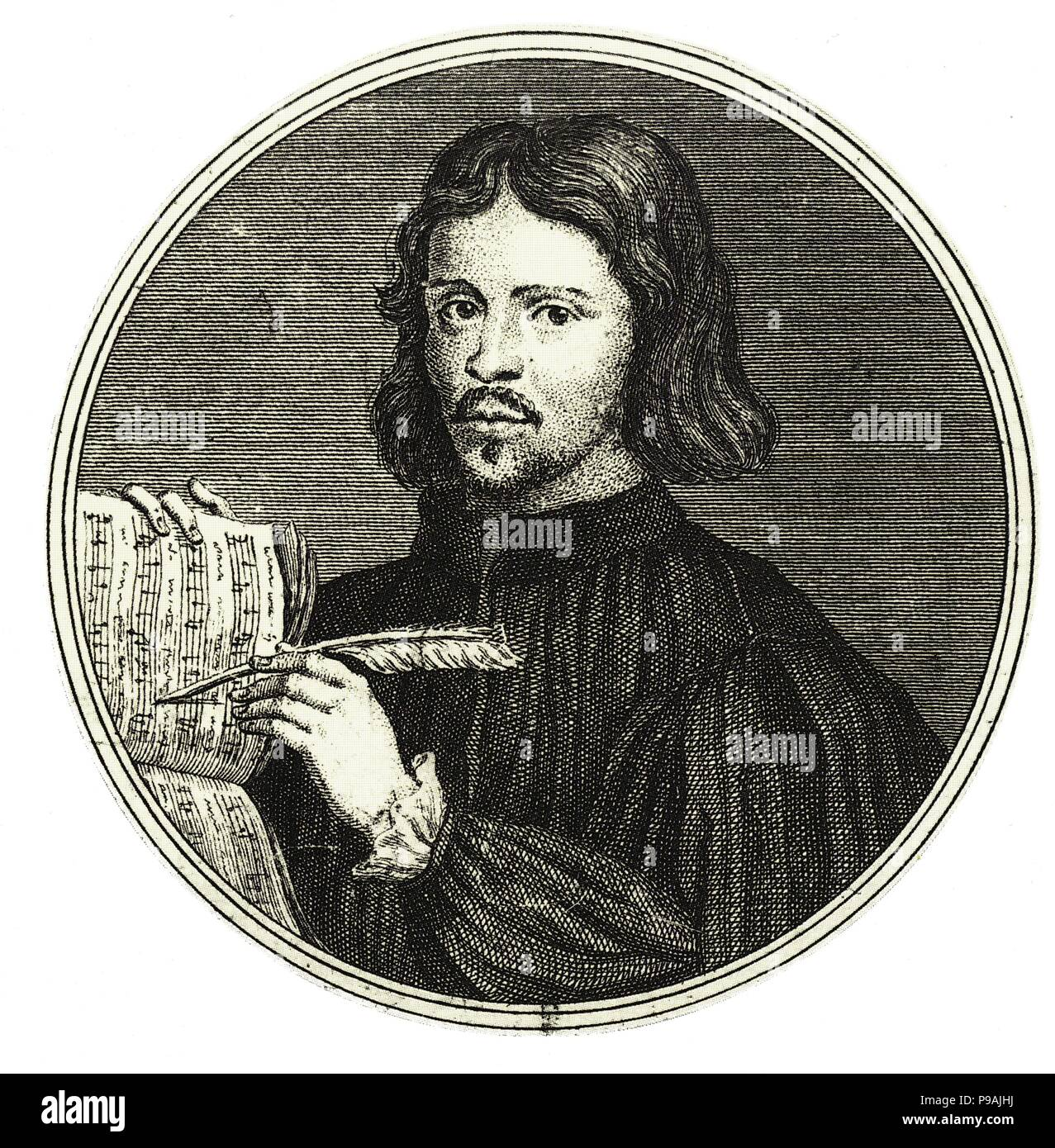 Composer Thomas Tallis. Museum: Russian State Library, Moscow. - Stock Image