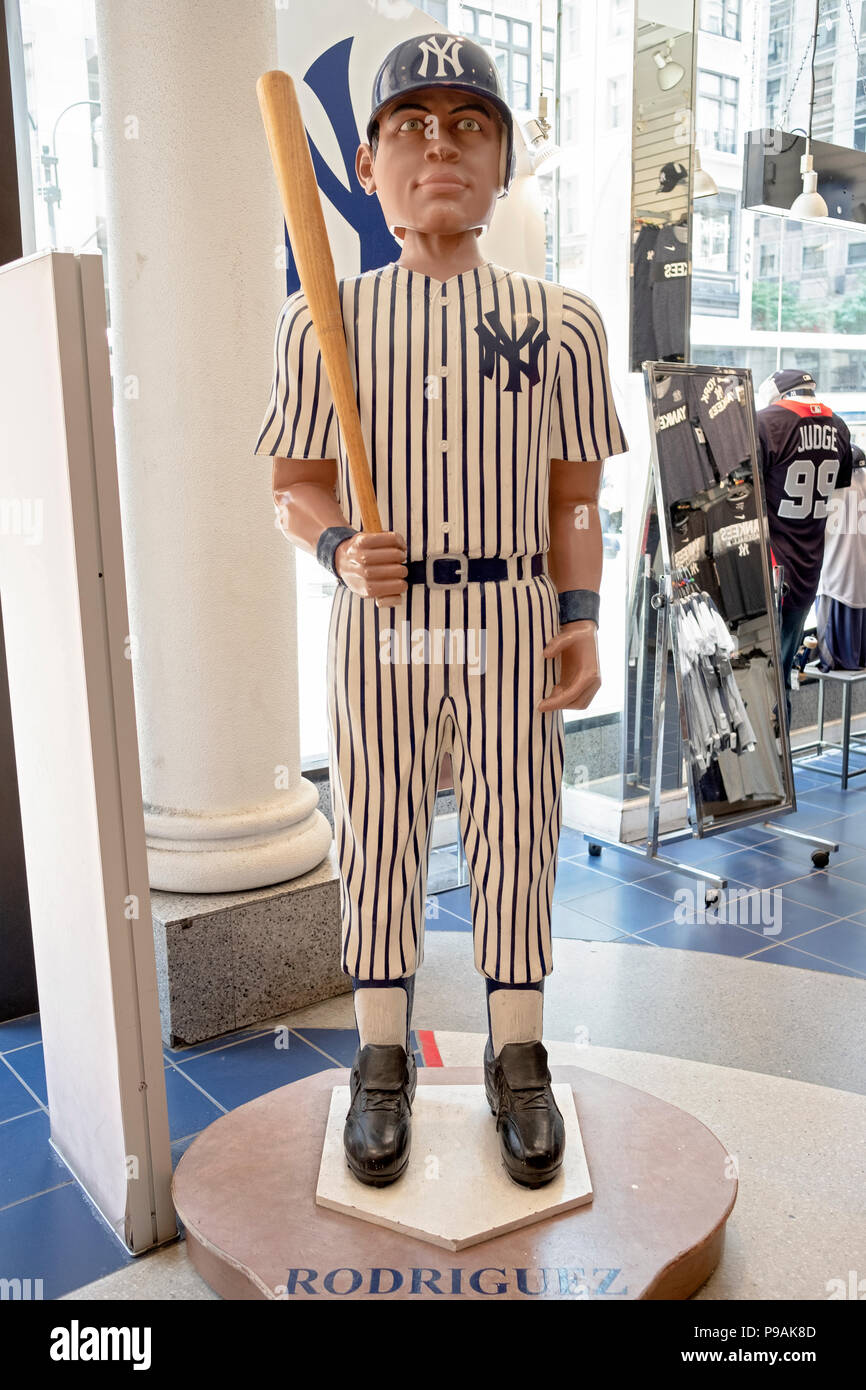 A tall bobble head doll of Alex Rodriguez displayed in the New York Yankees  team store on Fifth Avenue in Manhattan cdfed258c42