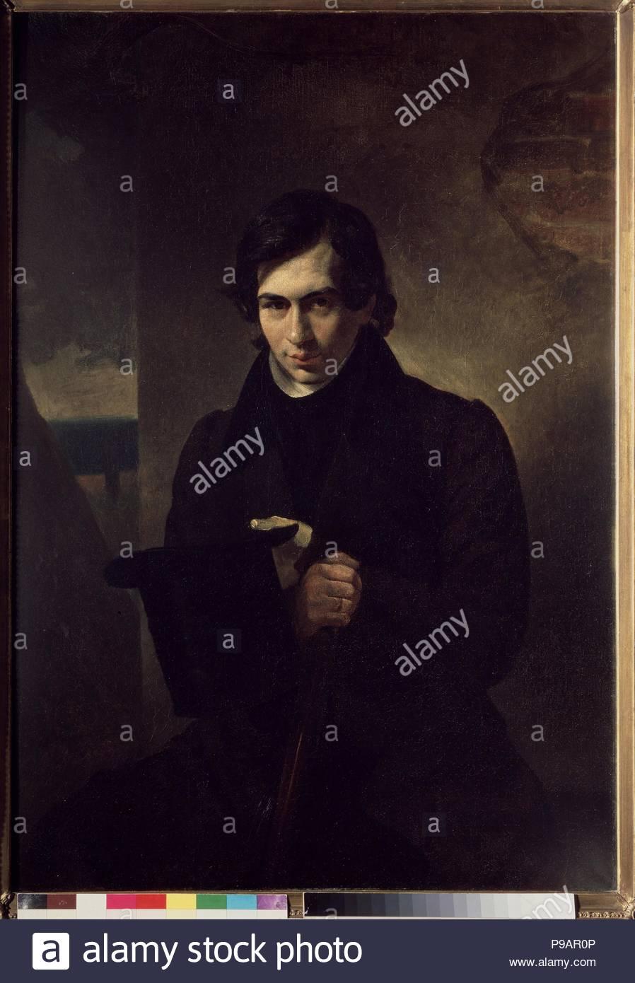 Portrait of the author Nestor Vasilievich Kukolnik (1809-1868). Museum: State Tretyakov Gallery, Moscow. - Stock Image