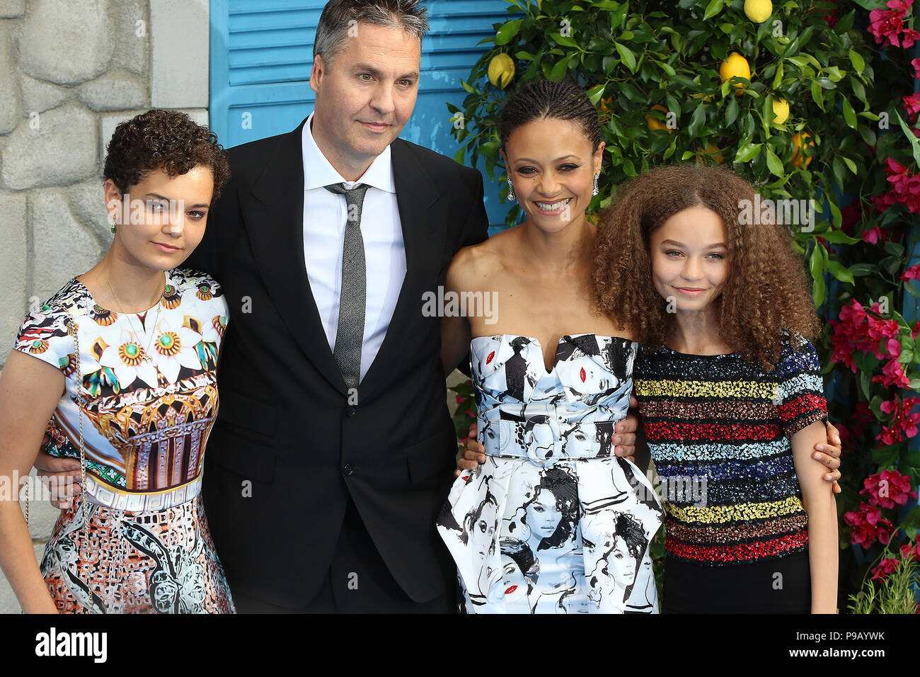 London Uk 16th July 2018 Ol Parker Thandie Newton Mamma Mia Here We Go Again World