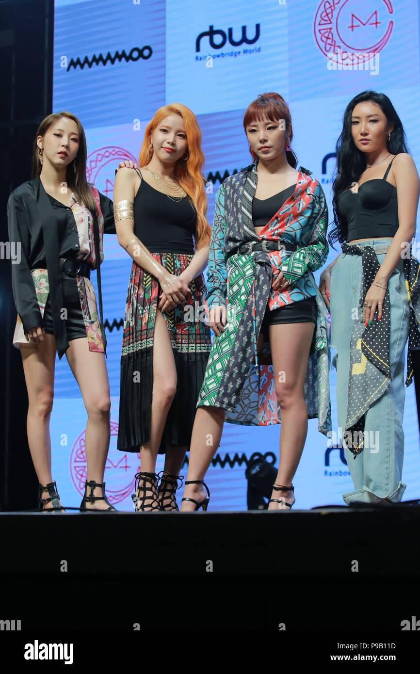 Seoul, Korea  16th July, 2018  MAMAMOO promoted their 7th mini album