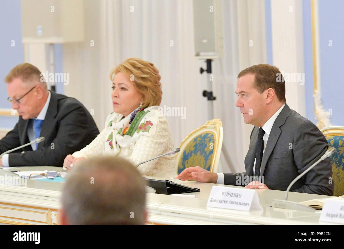 Valentina Matvienko again took over as head of the Federation Council 01.10.2014 20