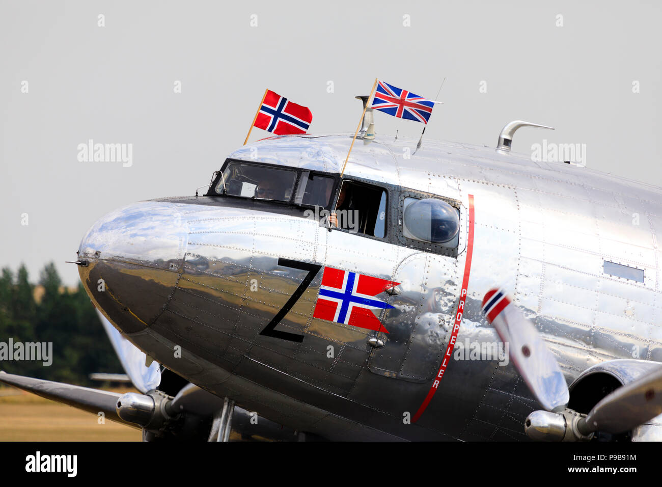 Norwegian Douglas Dakota DC3 - Stock Image