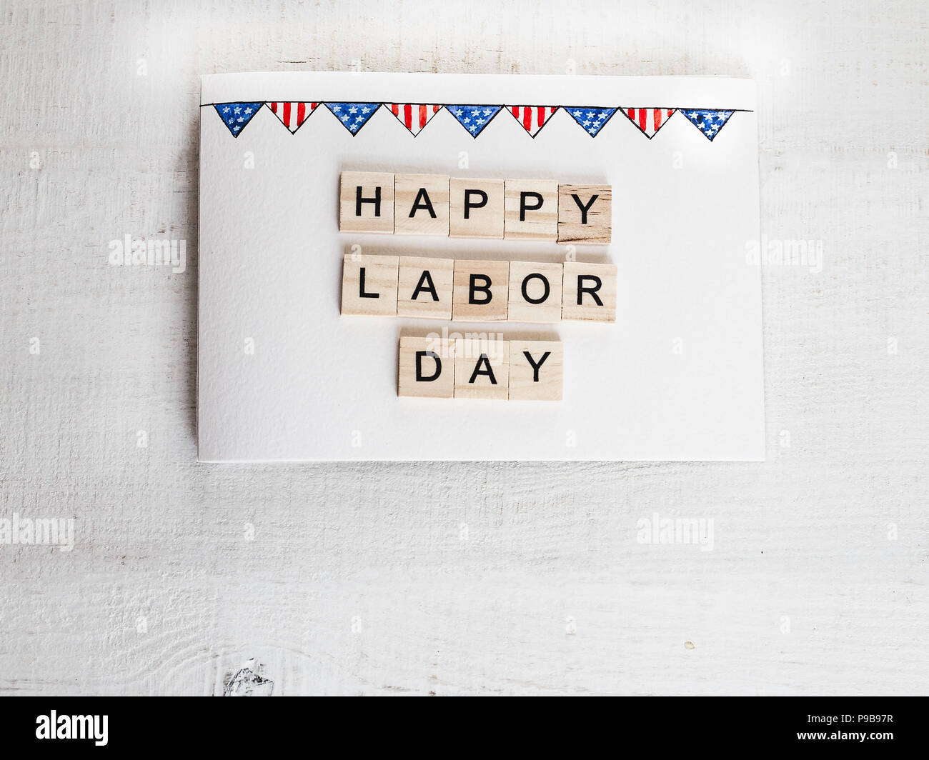 Beautiful Greeting Card On Labor Day Preparation For The Holiday