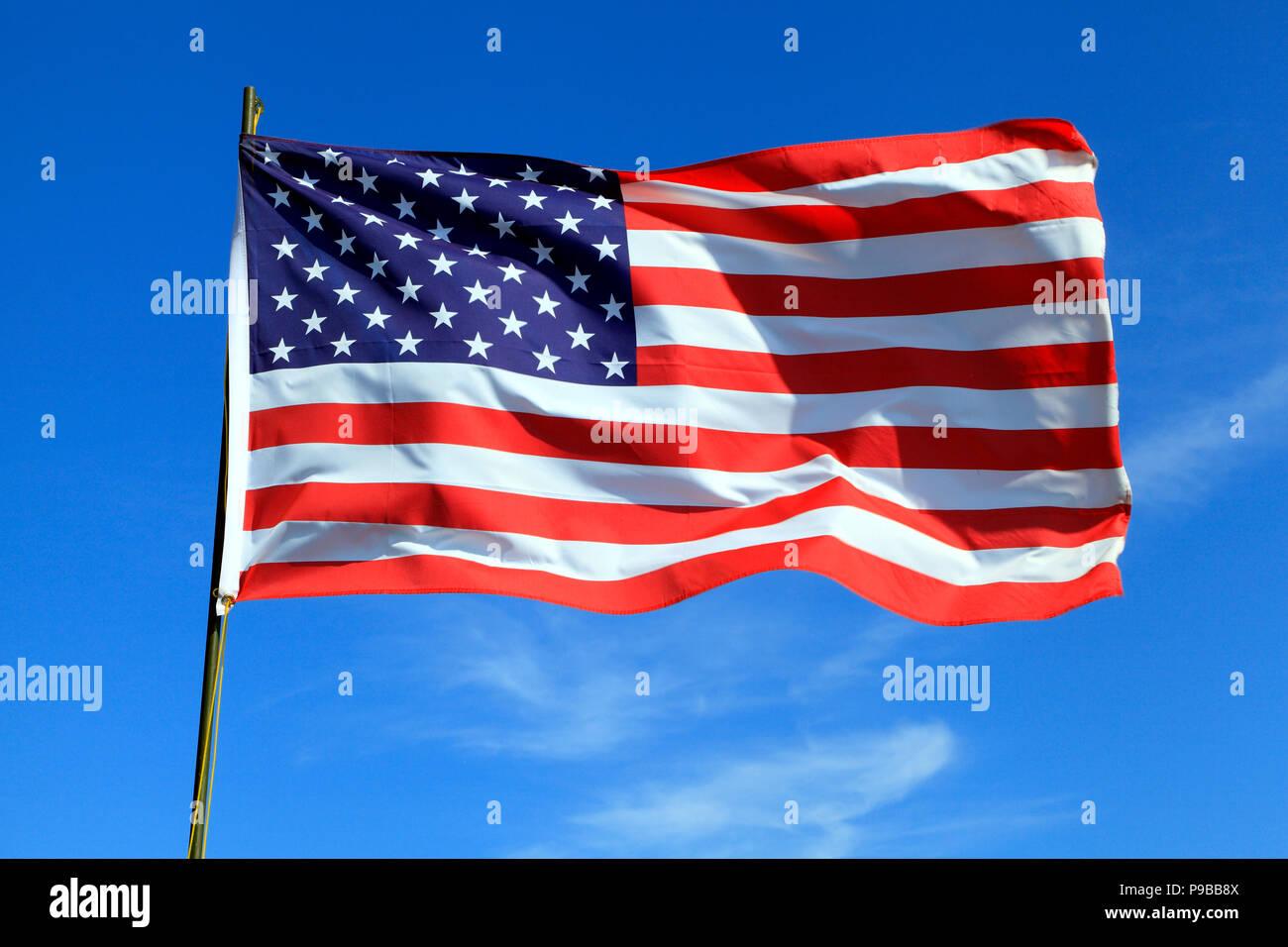 USA Flag, Stars and Stripes, Flag, American - Stock Image