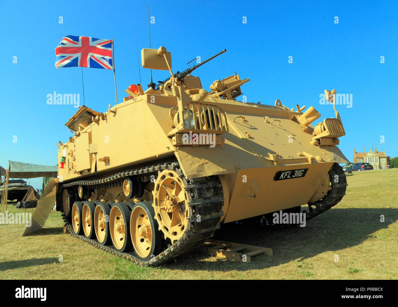 British 432 Tank, military vehicle, served in 1st Iraq conflict, vintage, military - Stock Image