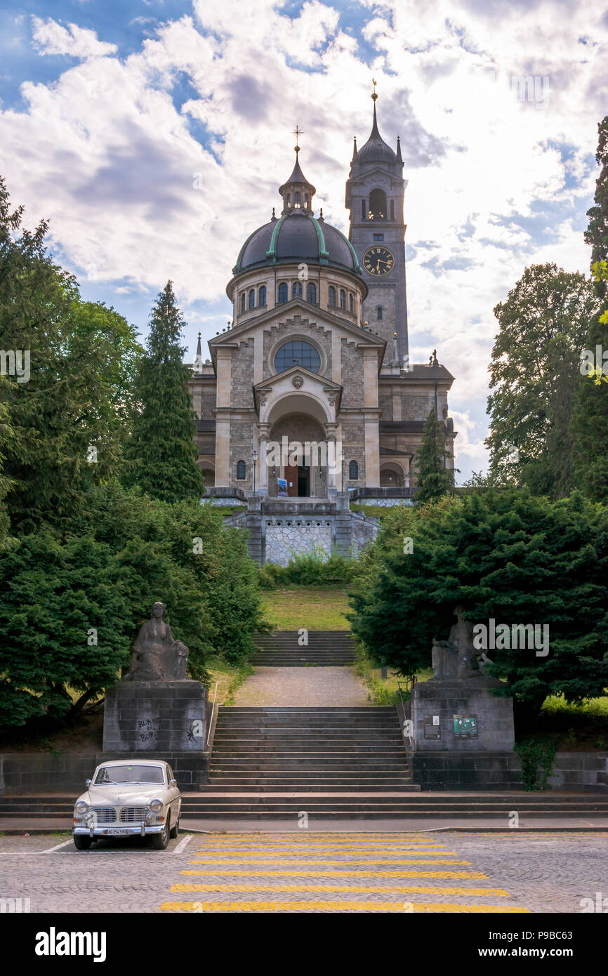 The Neo-renaissance style Reformed Protestant Church of Enge, Zurich, Switzerland - Stock Image