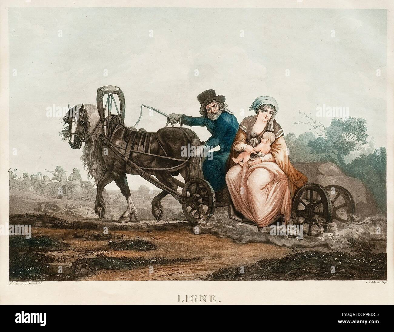 Sledge driving. Museum: PRIVATE COLLECTION. Stock Photo