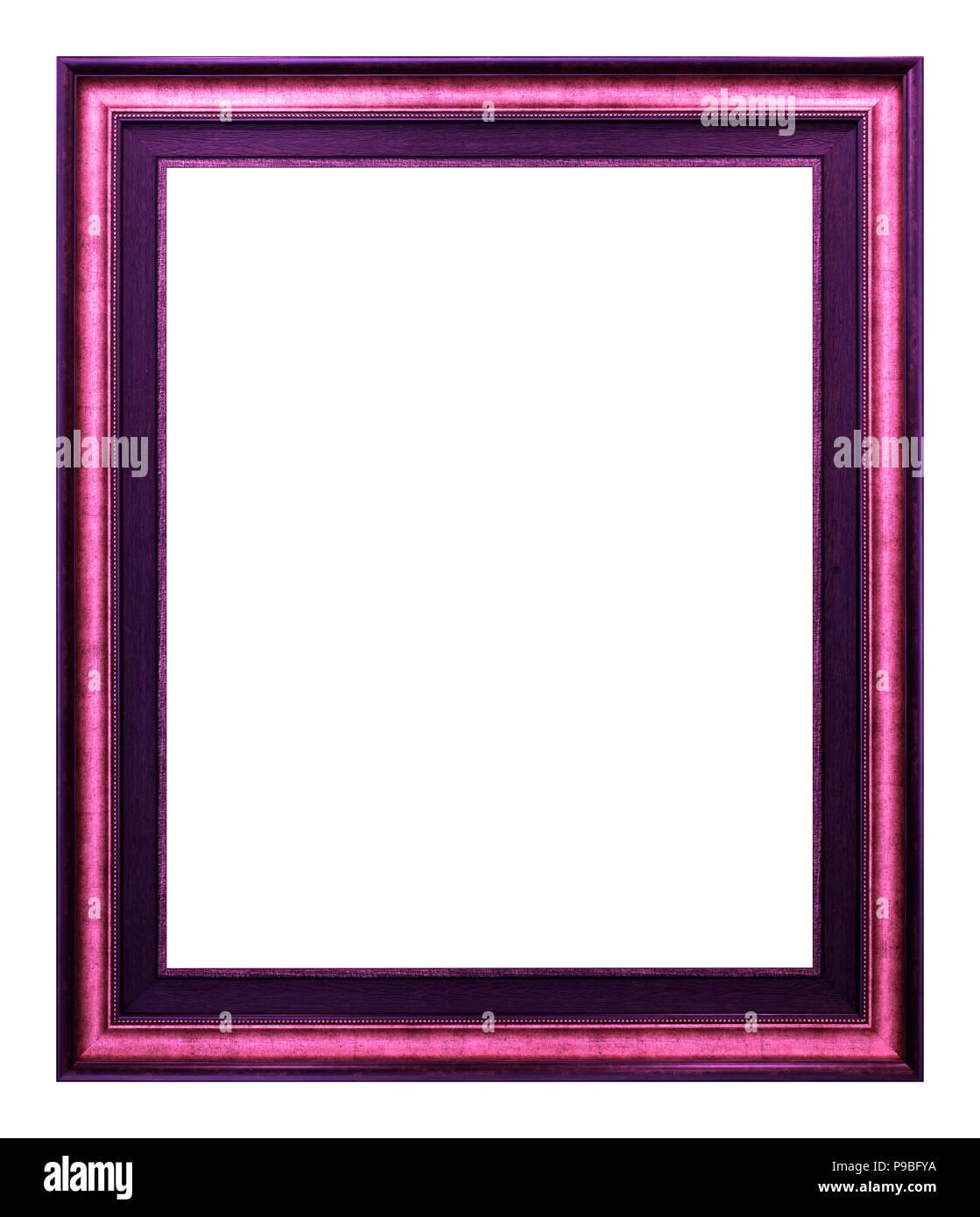 Antique magenta frame isolated on the white background vintage style - Stock Image