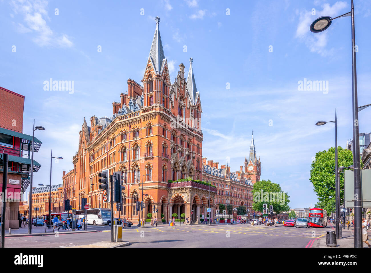 St. Pancras Renaissance hotel in London - Stock Image