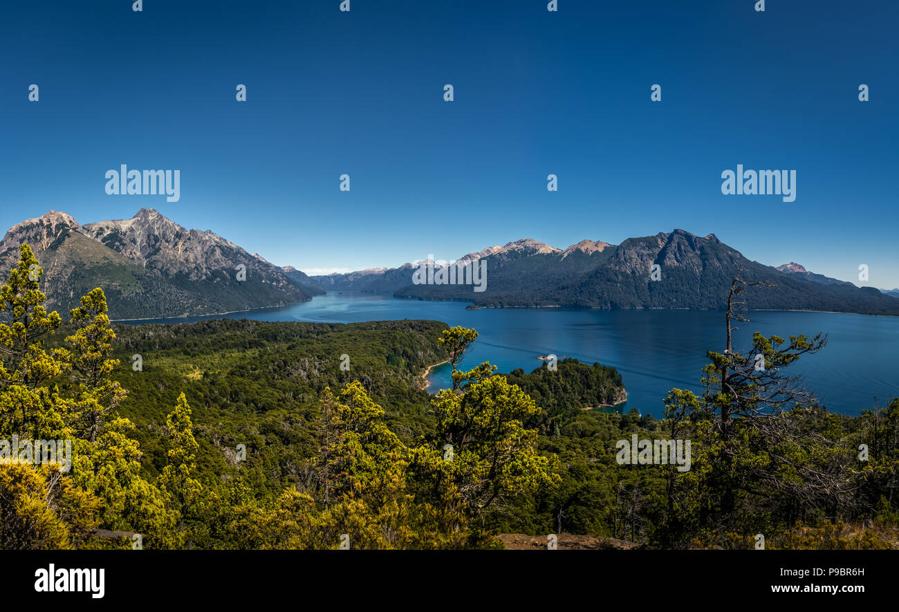 Circuito Chico Bariloche : Aerial view from cerro llao llao viewpoint at circuito chico