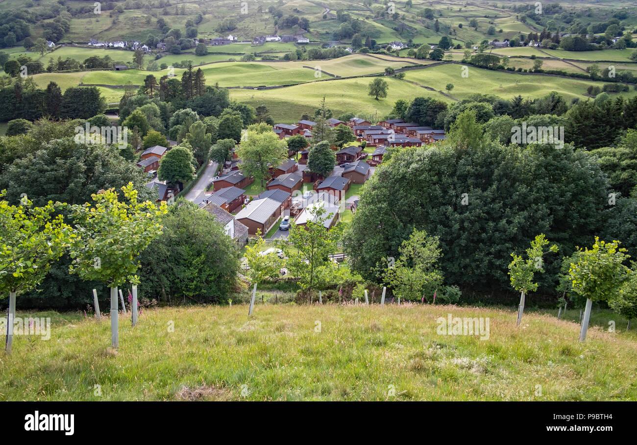 Limefit Holiday Park Cumbria United Kingdom - Stock Image