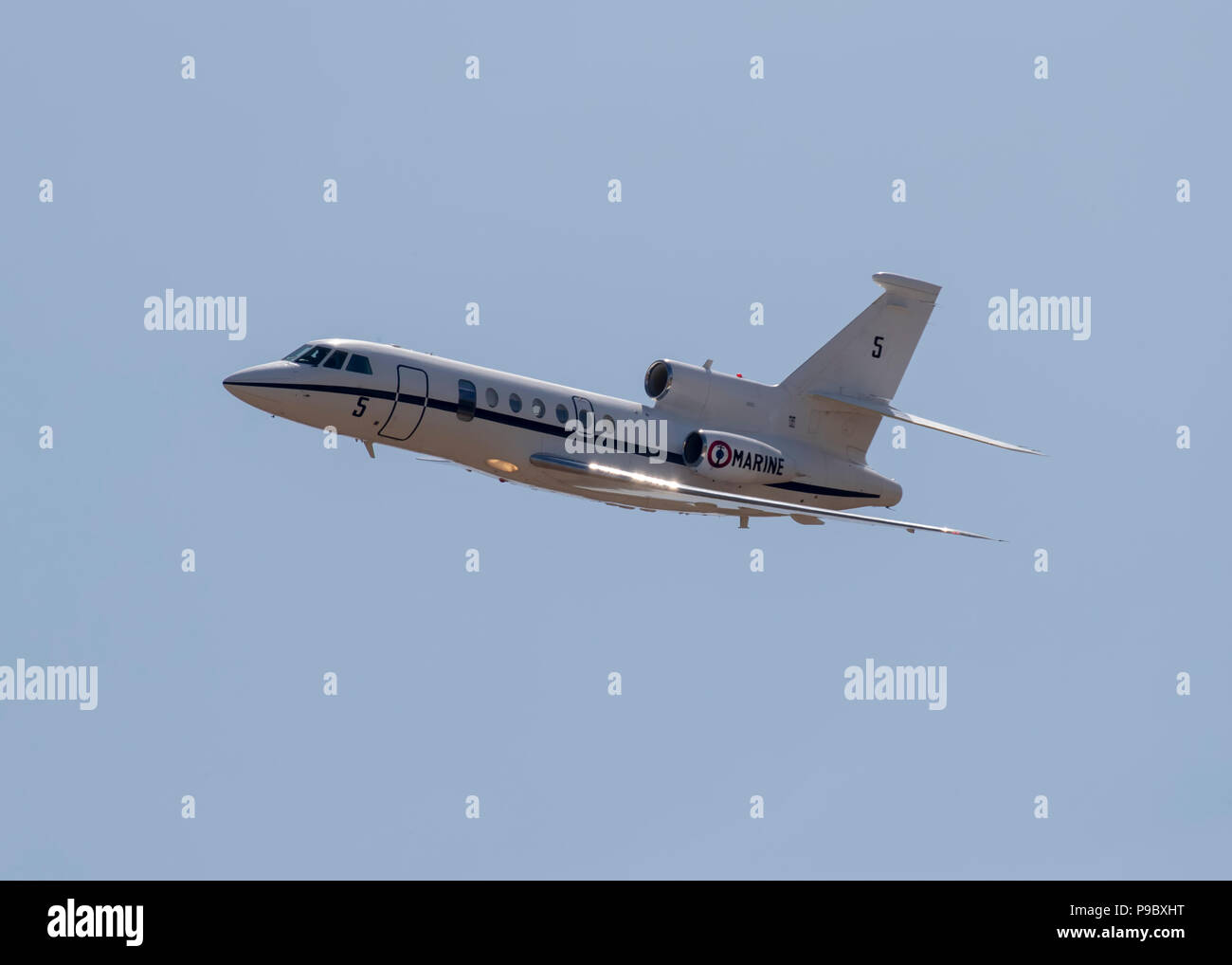 French Naval Dassault Falcon 50M maritime patrol aircraft at the annual RNAS Yeovilton Air Day - Stock Image