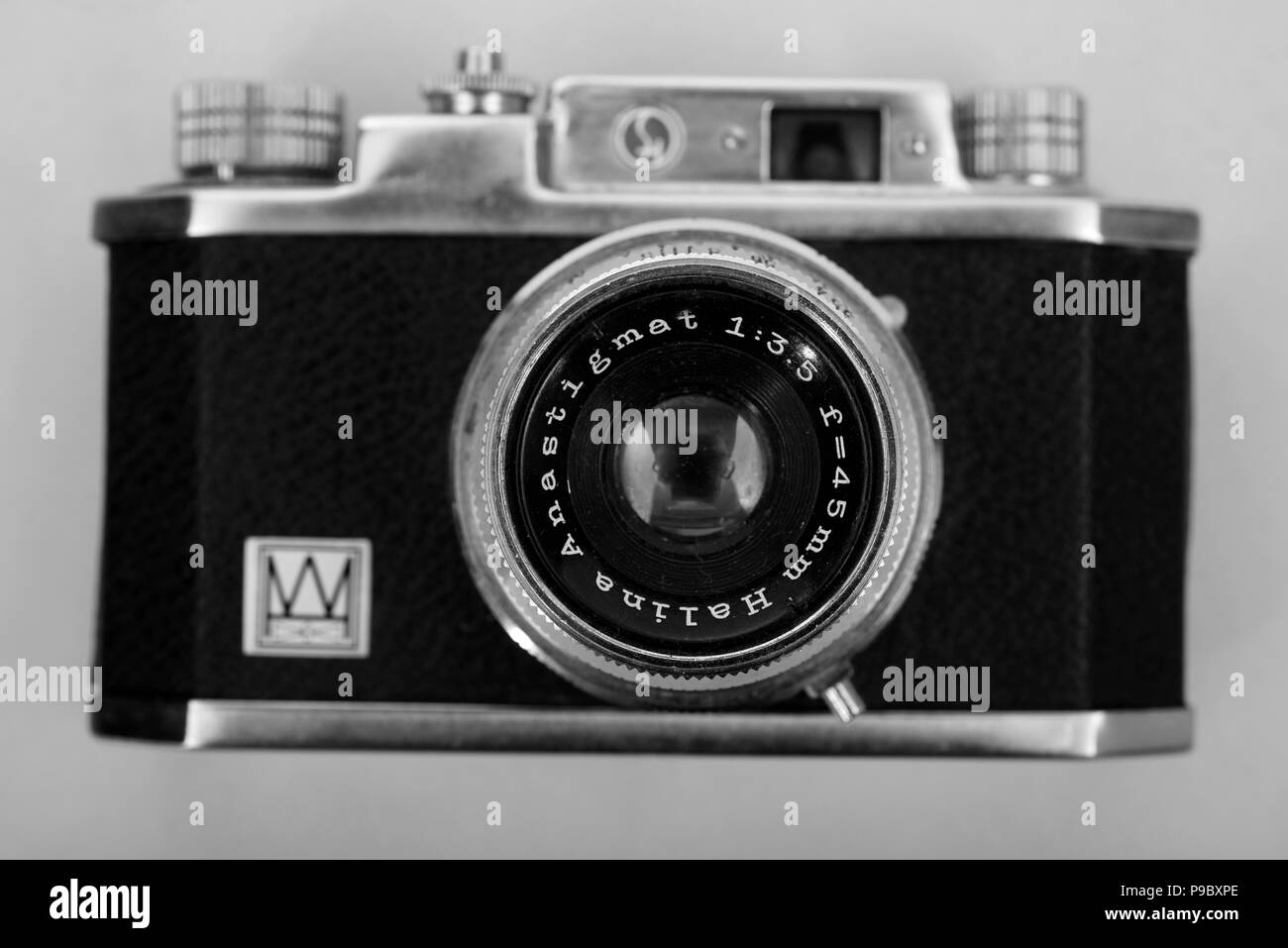 Vintage 35mm camera - Stock Image