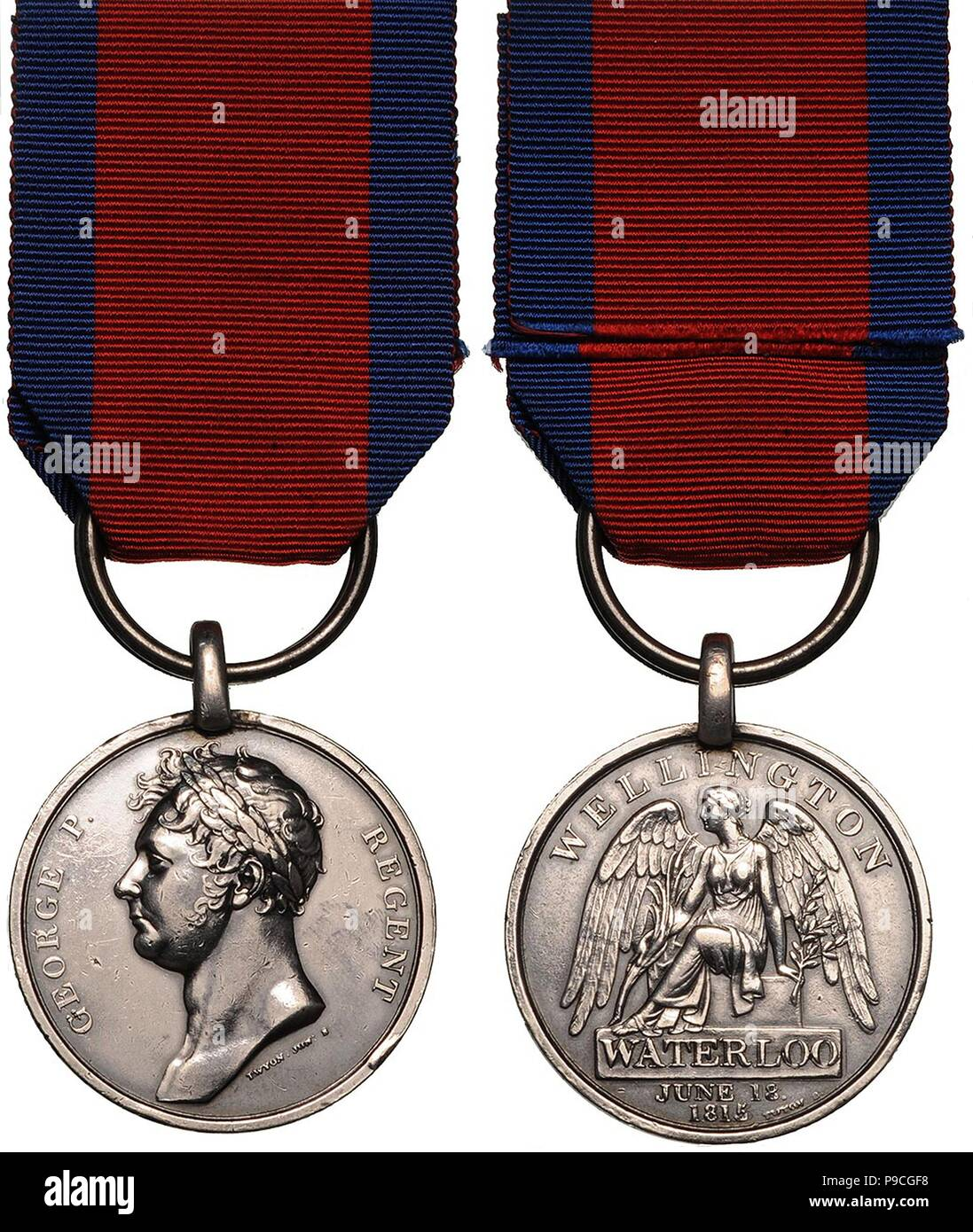 The Waterloo Medal. Museum: PRIVATE COLLECTION. - Stock Image