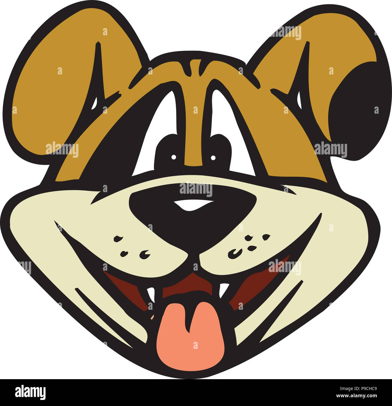 Cartoon Happy Dog High Resolution Stock Photography And Images Alamy