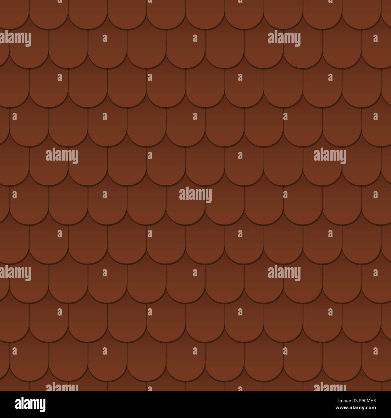 Seamless pattern background of the roof Stock Vector