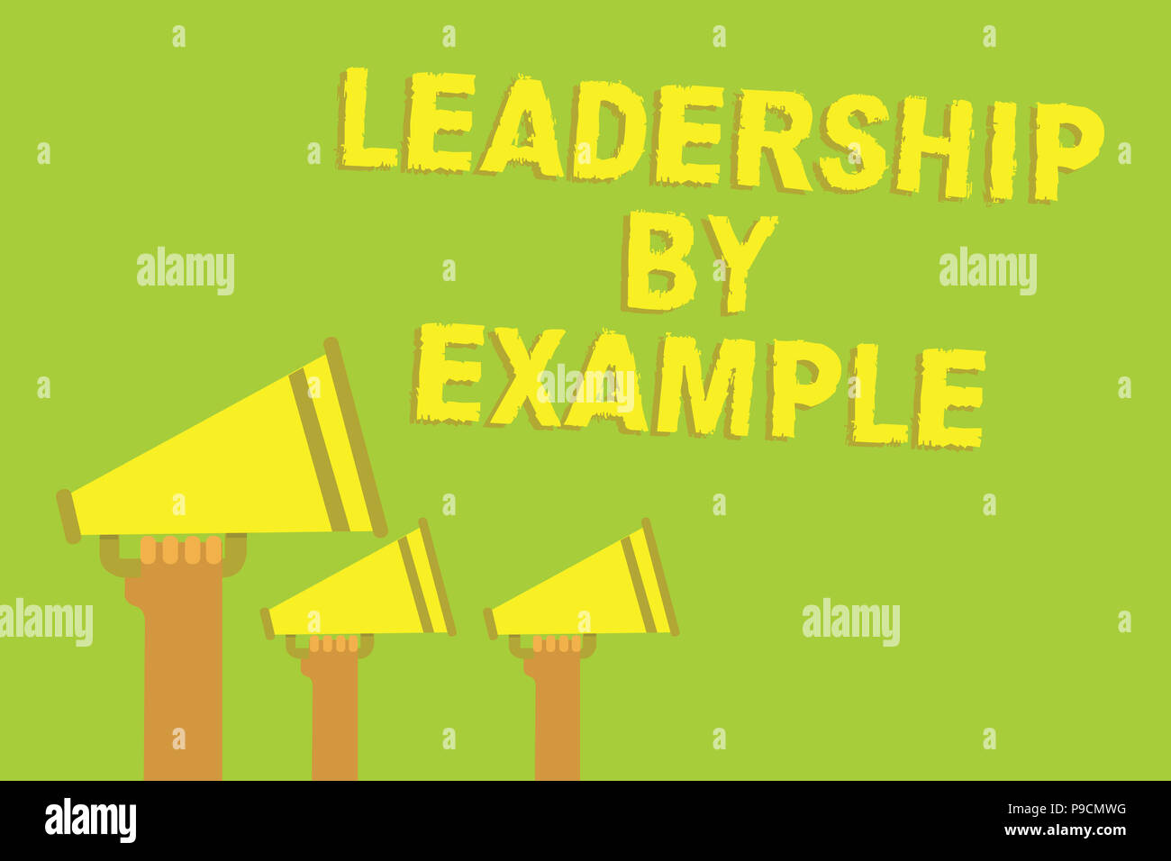 word writing text leadership by example. business concept for