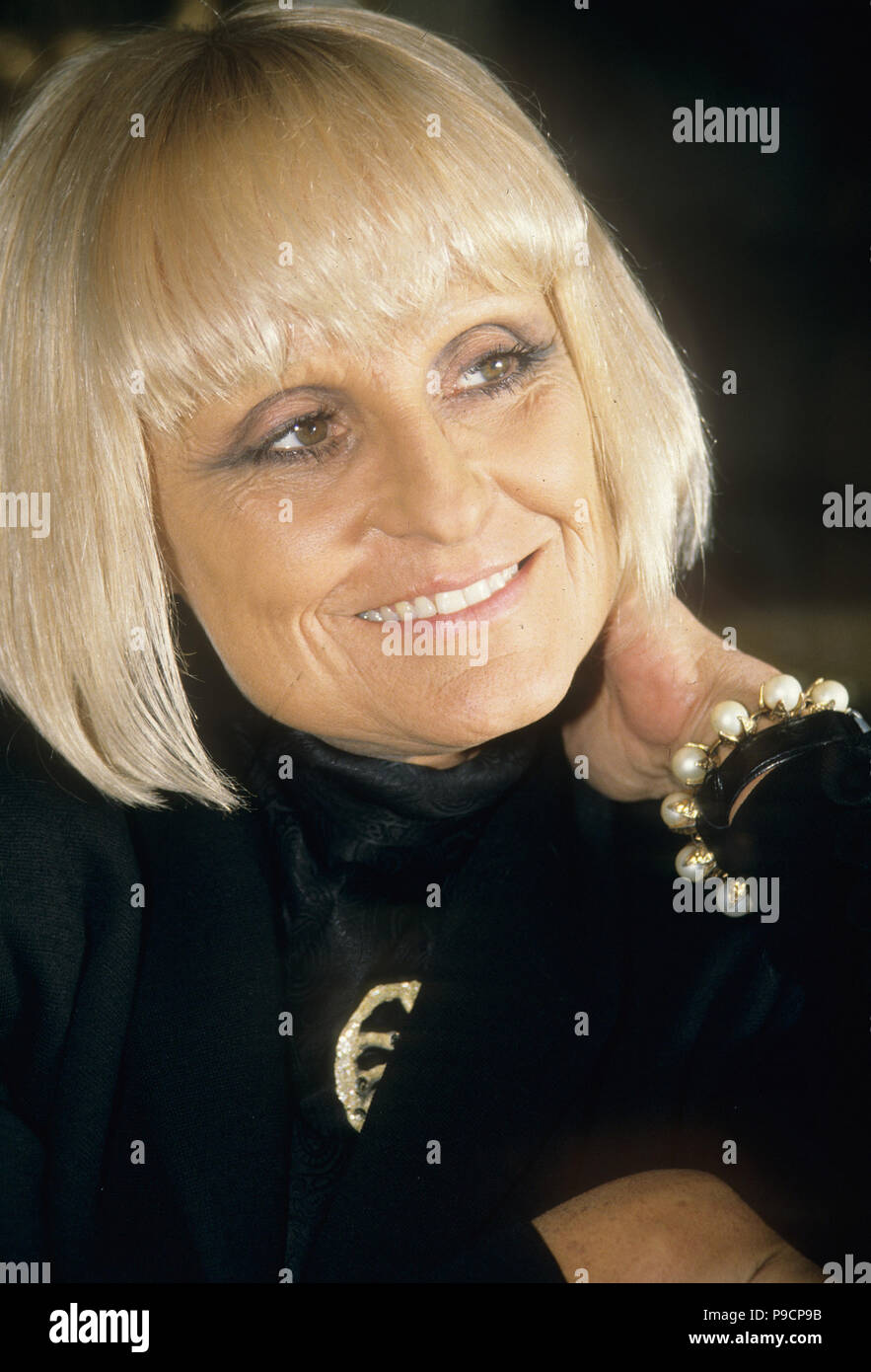 BARBARA HULANICKI Polish fashion designer and founder of Biba, about 1990. - Stock Image