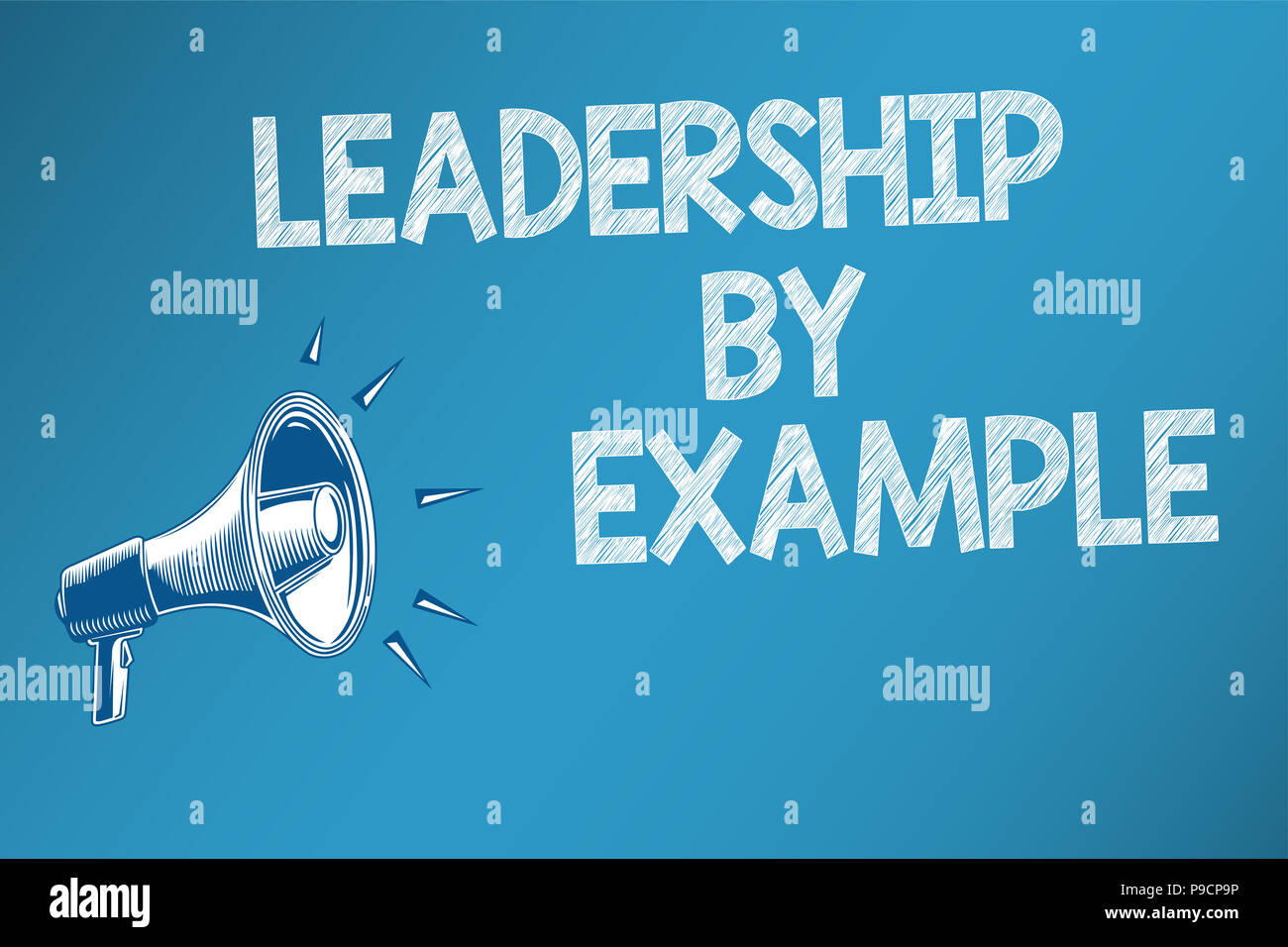 conceptual hand writing showing leadership by example. business