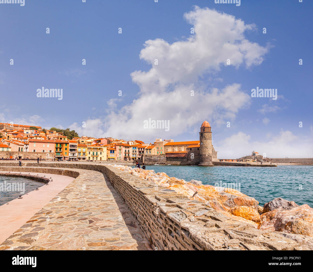Collioure, Languedoc-Roussillon, Pyrenees-Orientales, France. - Stock Image