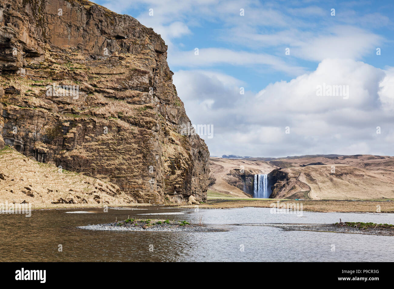 Skogafoss waterfall, Skogar, South Iceland - Stock Image