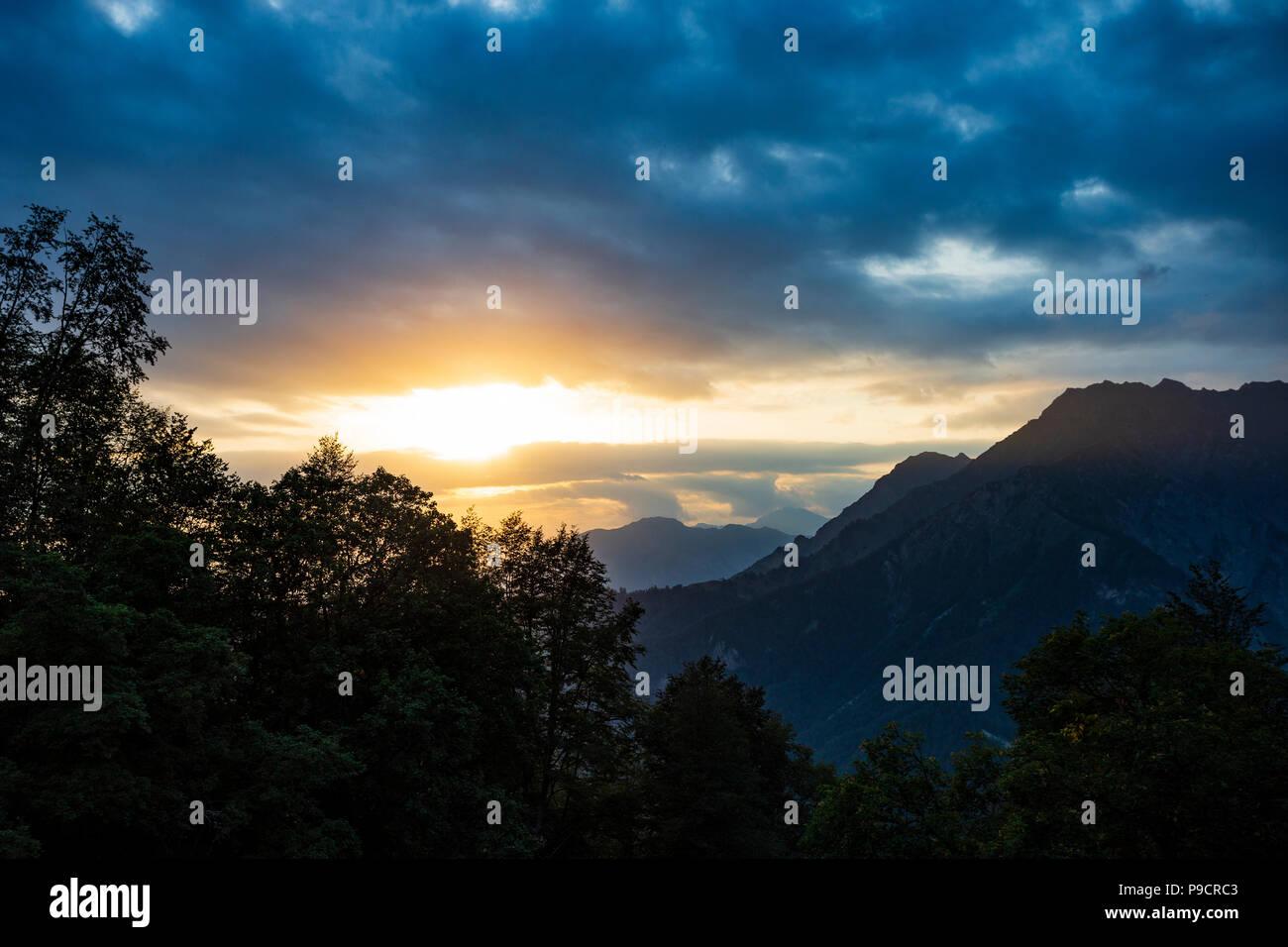 Mountains, forest, Azerbaijan Stock Photo