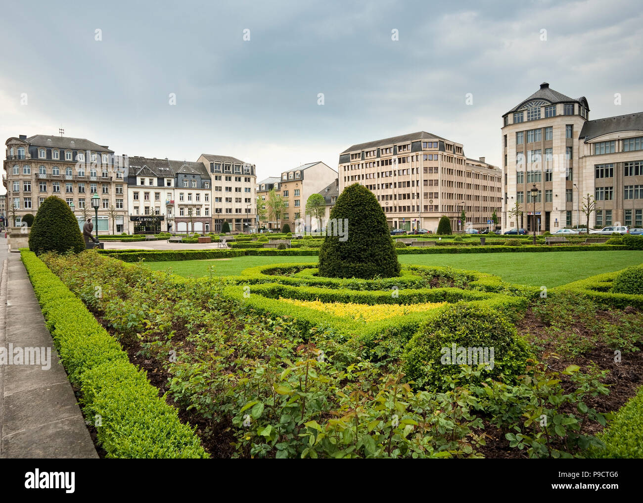 Place des Martyrs, Luxembourg City, Luxembourg, Europe - Stock Image