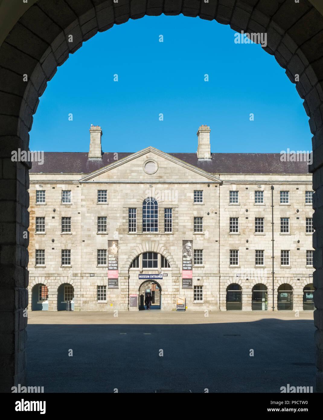 Collins Barracks, Dublin, Ireland, Europe, part of the National  Museum of Ireland - Stock Image