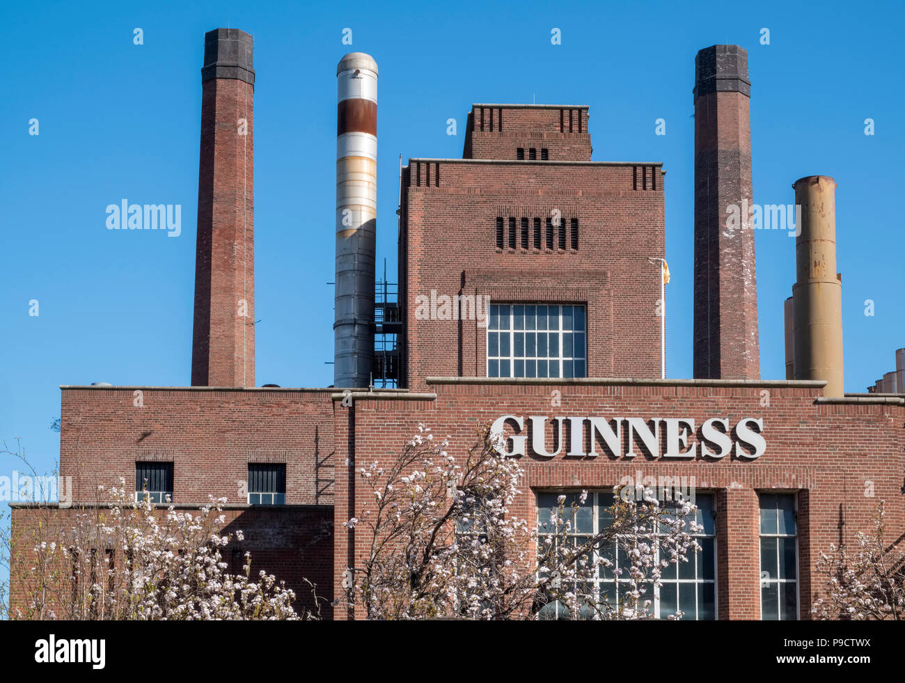 Part of the Guinness Brewery building, Dublin, Ireland, Europe - Stock Image