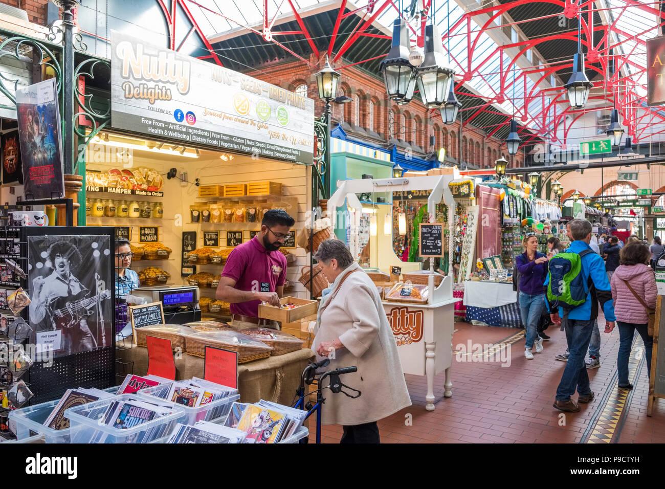 Georges Street Market Arcade, Dublin, Ireland, Europe - Stock Image