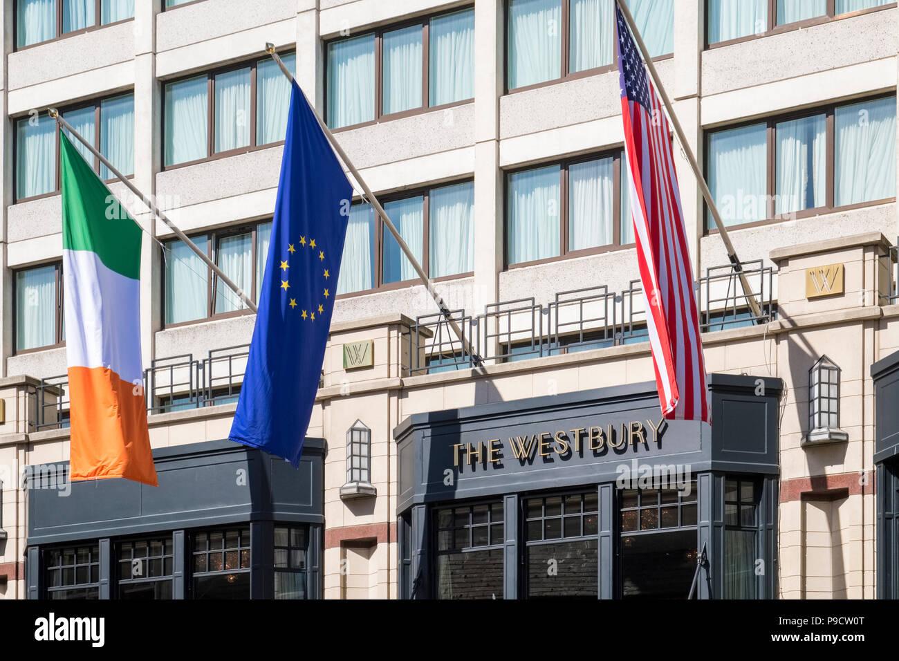 Front of the Westbury Hotel, Dublin, Ireland, Europe - Stock Image