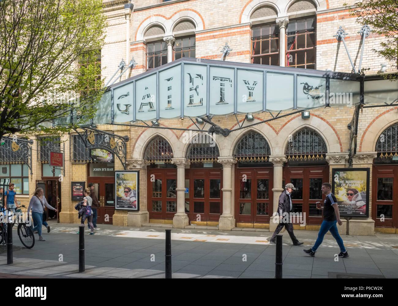 The Gaiety Theatre, Dublin, Ireland, Europe - Stock Image