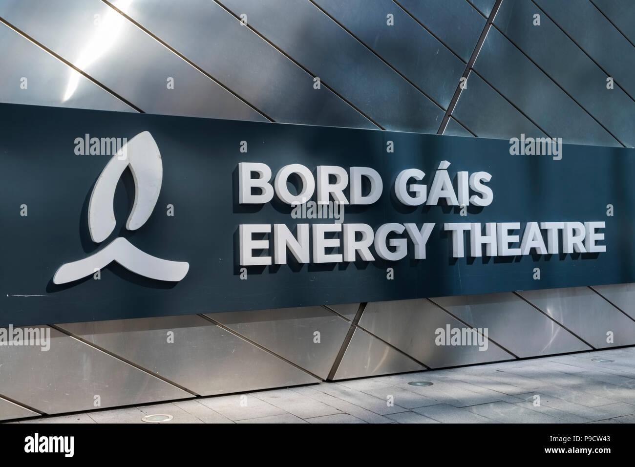 Bord Gais Energy Theatre (Grand Canal Theatre) logo, Dublin, Ireland, Europe - Stock Image