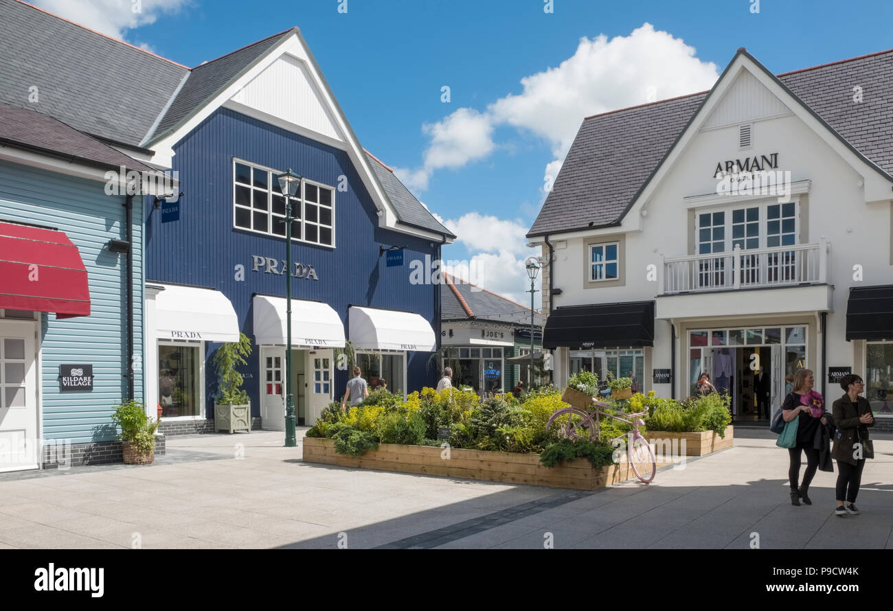 Kildare Village Shopping Outlet near Dublin, Ireland, Europe - Stock Image