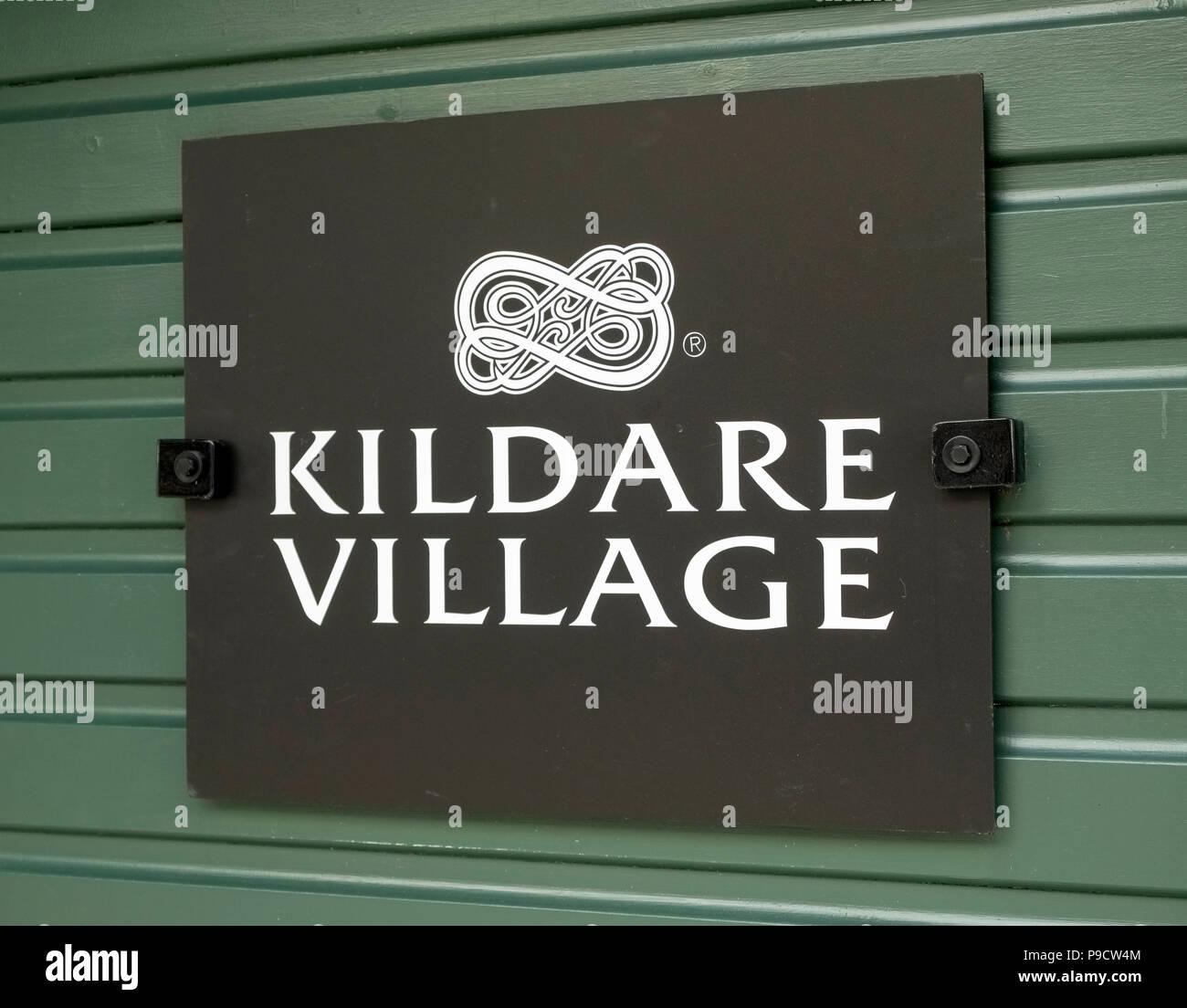 Kildare Village Shopping Outlet logo, Ireland, Europe - Stock Image