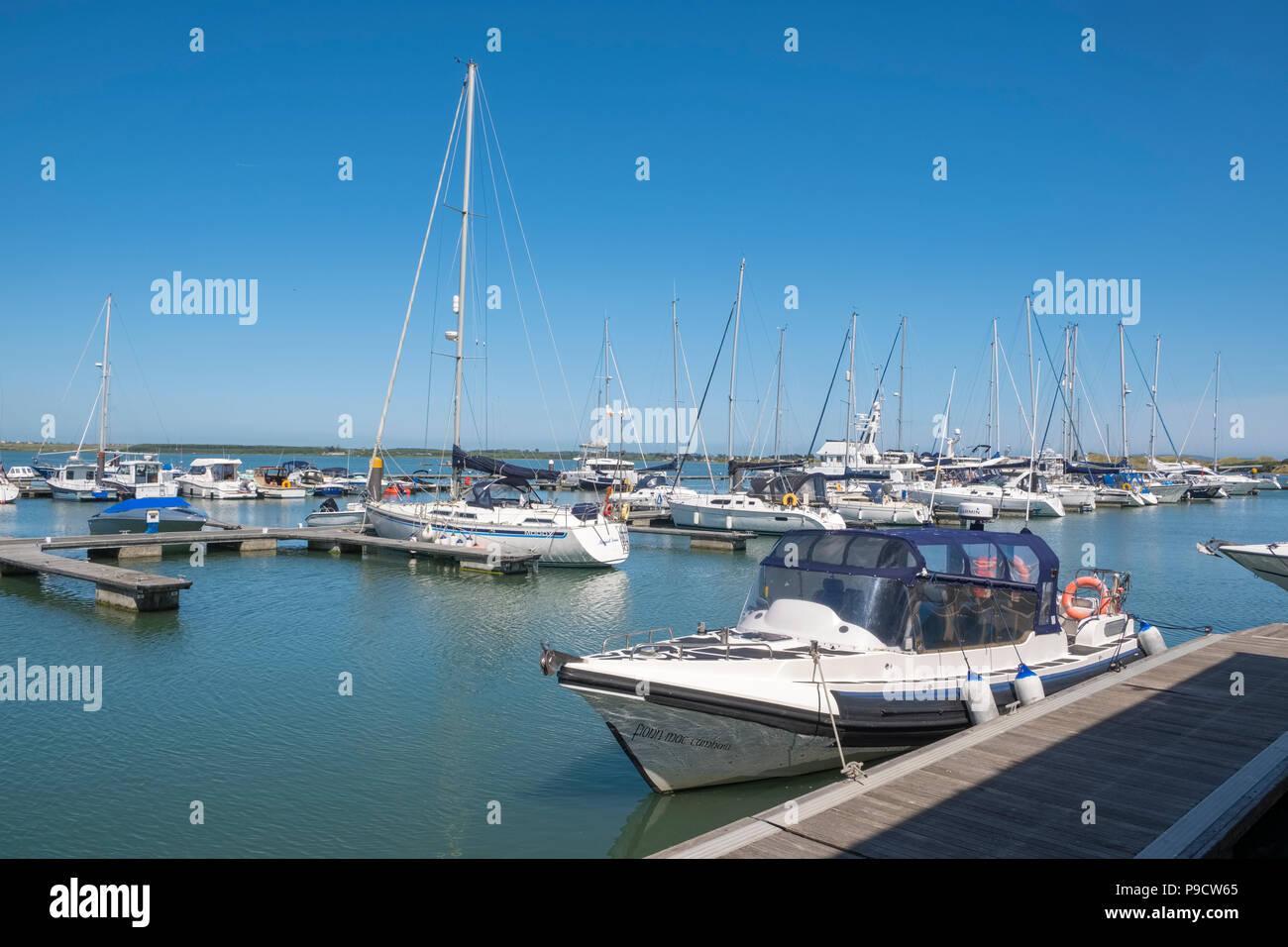 Malahide Marina, Malahide, Dublin, Ireland, Europe - Stock Image