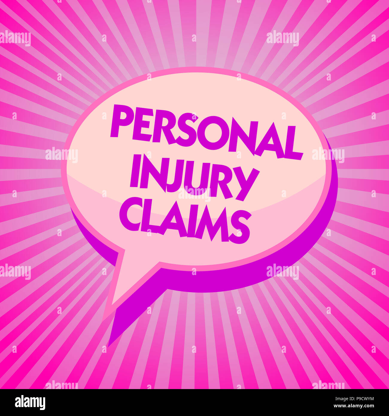Text sign showing Personal Injury Claims  Conceptual photo being
