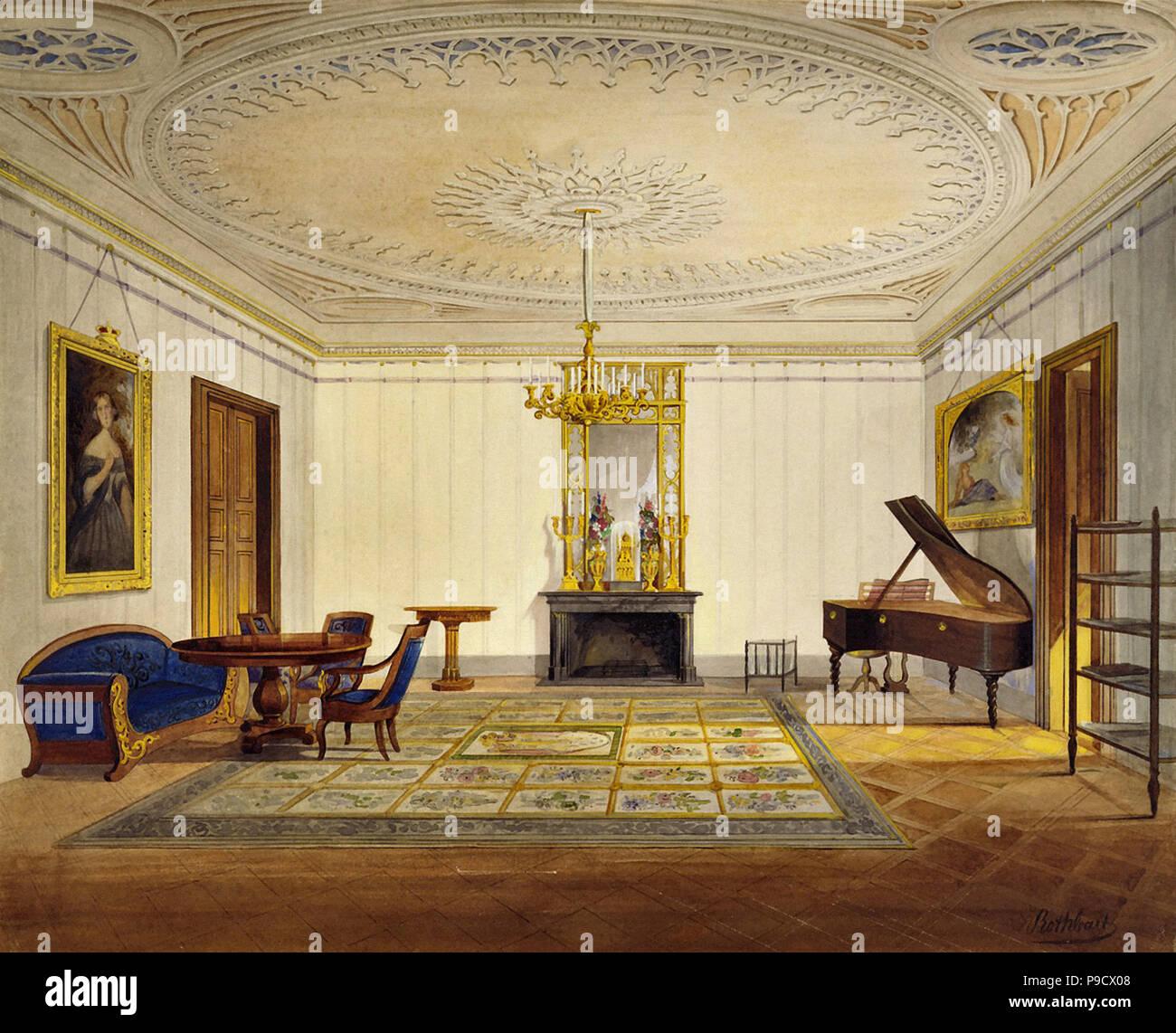 Rothbart  Georg Konrad - Schloss Callenberg - the Duchess's Sitting Room - Stock Image