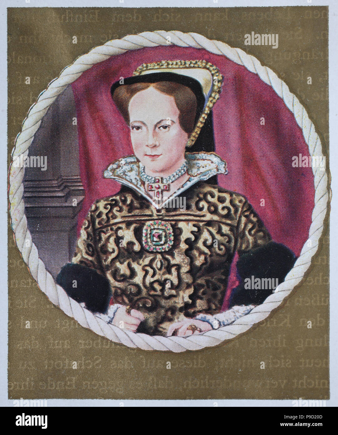 Mary I (18 February 1516 – 17 November 1558) was the Queen of England and Ireland from July 1553 until her death, digital improved reproduction of an original print from the year 1900 - Stock Image
