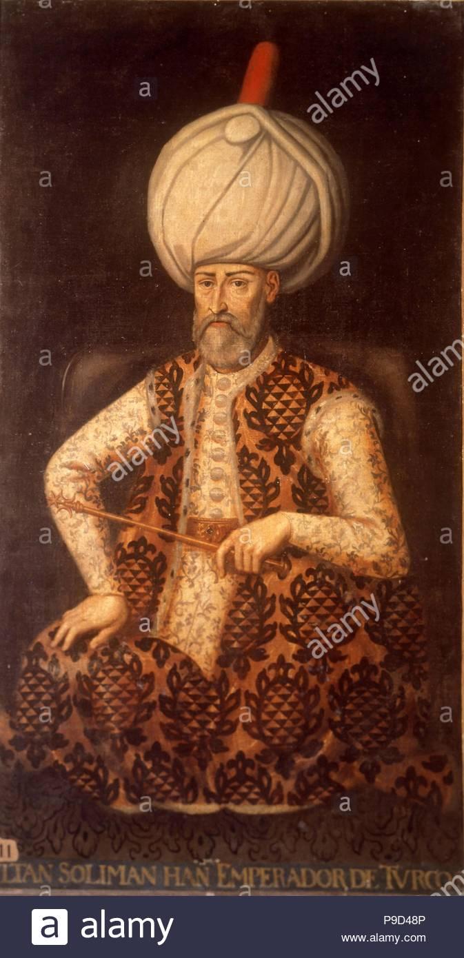 Sultan Suleiman I the Magnificent. Museum: Palacio del Senado de España, Madrid. Stock Photo