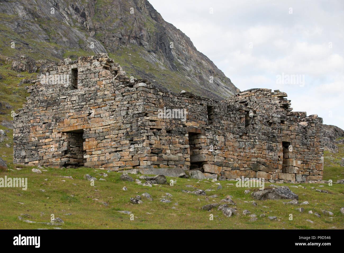 Hvalsey Church (Greenlandic Norse Ruins), Southern Greenland near Qaqortoq - Stock Image