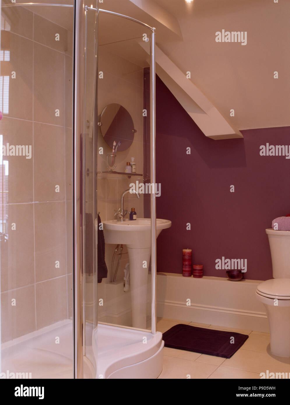 Bathroom Shower Cubicle Stock Photos & Bathroom Shower Cubicle Stock ...