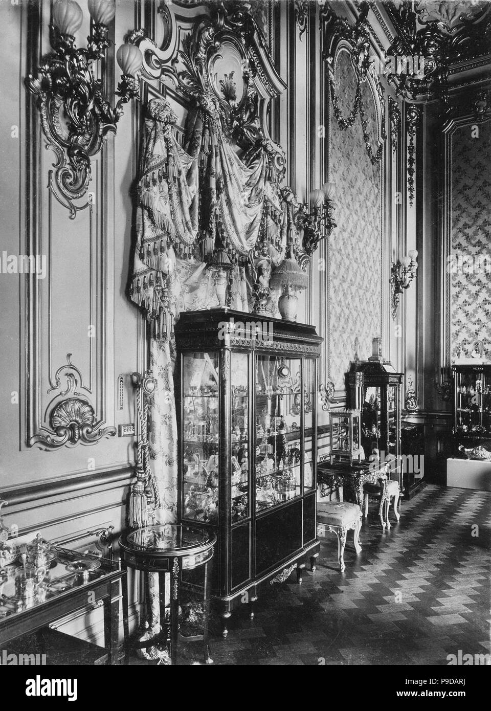 The Exhibition of the Fabergé House. Museum: State Hermitage, St. Petersburg. - Stock Image