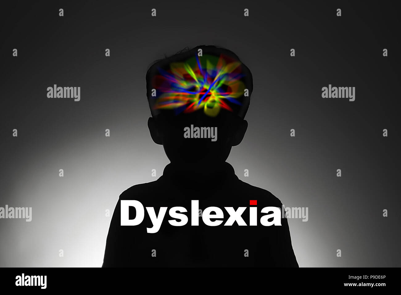 Dyslexia,  difficulty reading, writing and spelling. Stock Photo