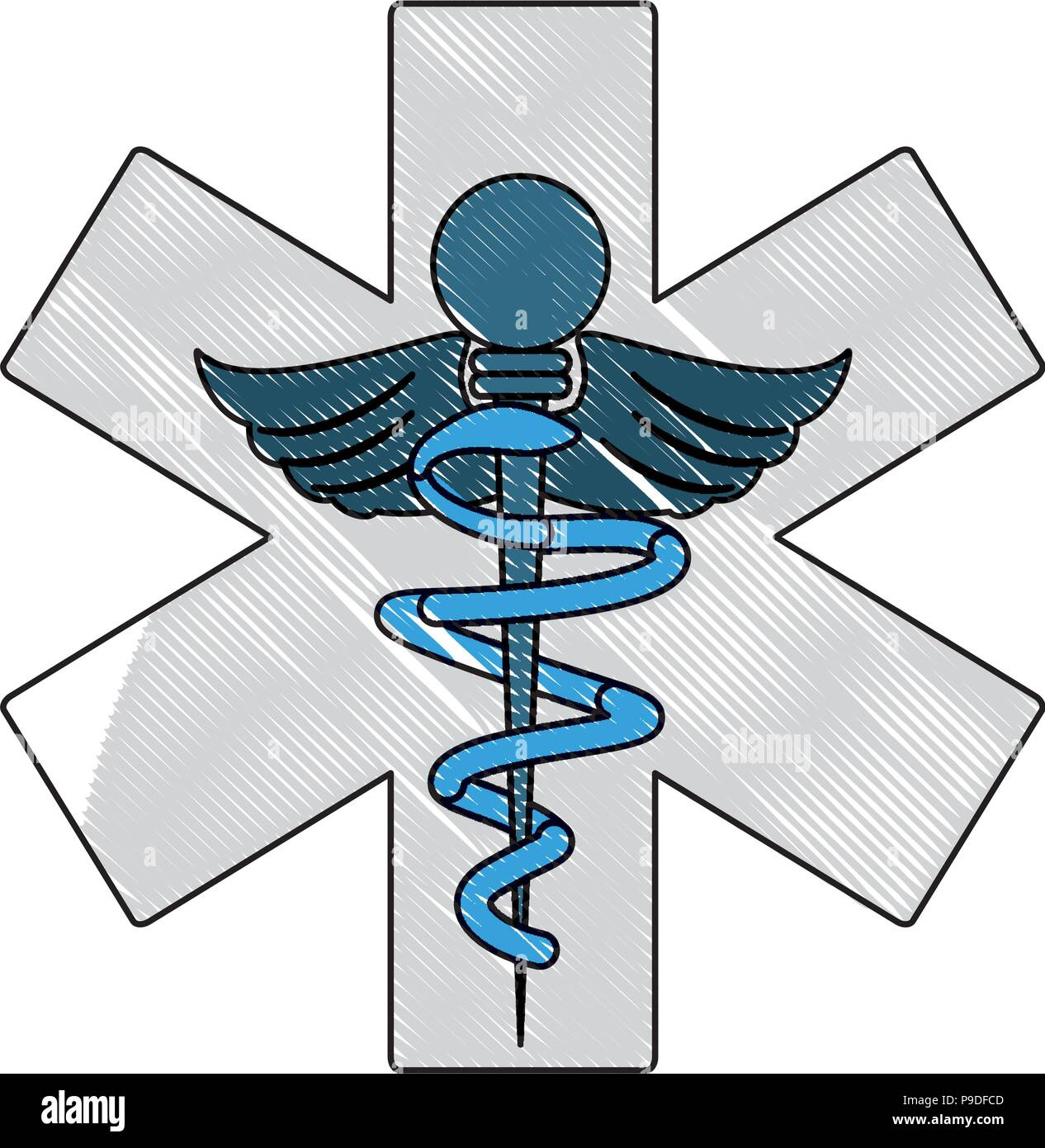 Medical Symbol Of The Emergency Icon Over White Background Vector