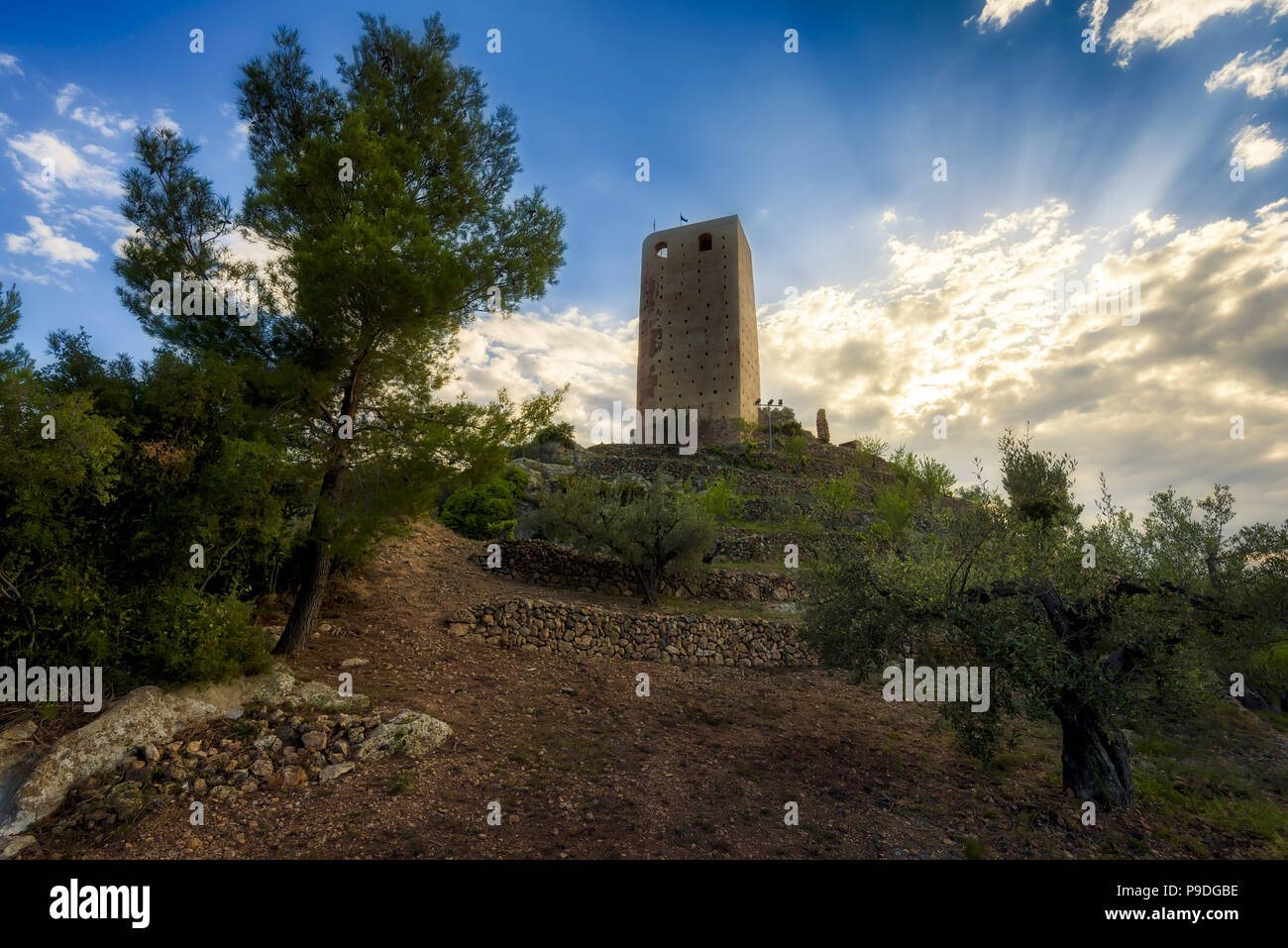 Almonecir Castle in Castellon (Spain) - Stock Image